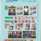 UKRAINE INTERNATIONAL AIRLINE BOEING 737-800 AIRLINE SAFETY CARD