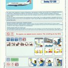 TRANSAERO RUSSIAN AIRLINE BOEING 737-500 AIRLINE SAFETY CARD