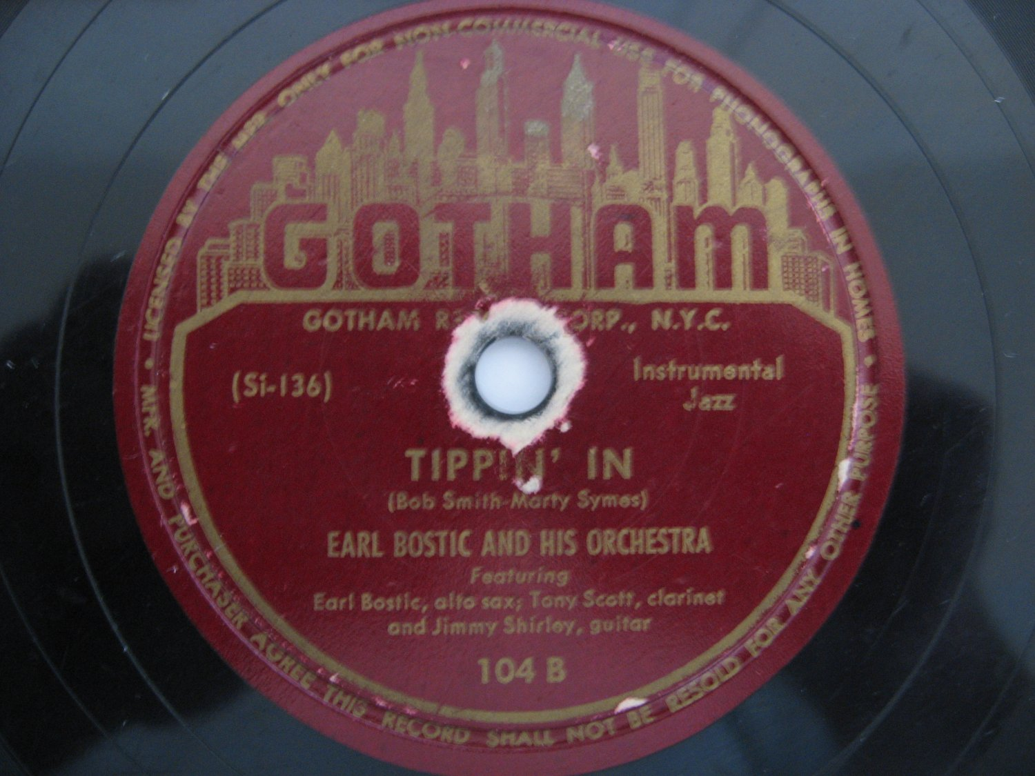Earl Bostic & His Orchestra  -  That's The Groovy Thing - Tippin In - 78rpm - Circa 1946