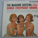The McGuire Sisters - Songs Everybody Knows - Circa 1962