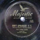 The Three Suns  -  Don't Apologize   (Vinyl Record)