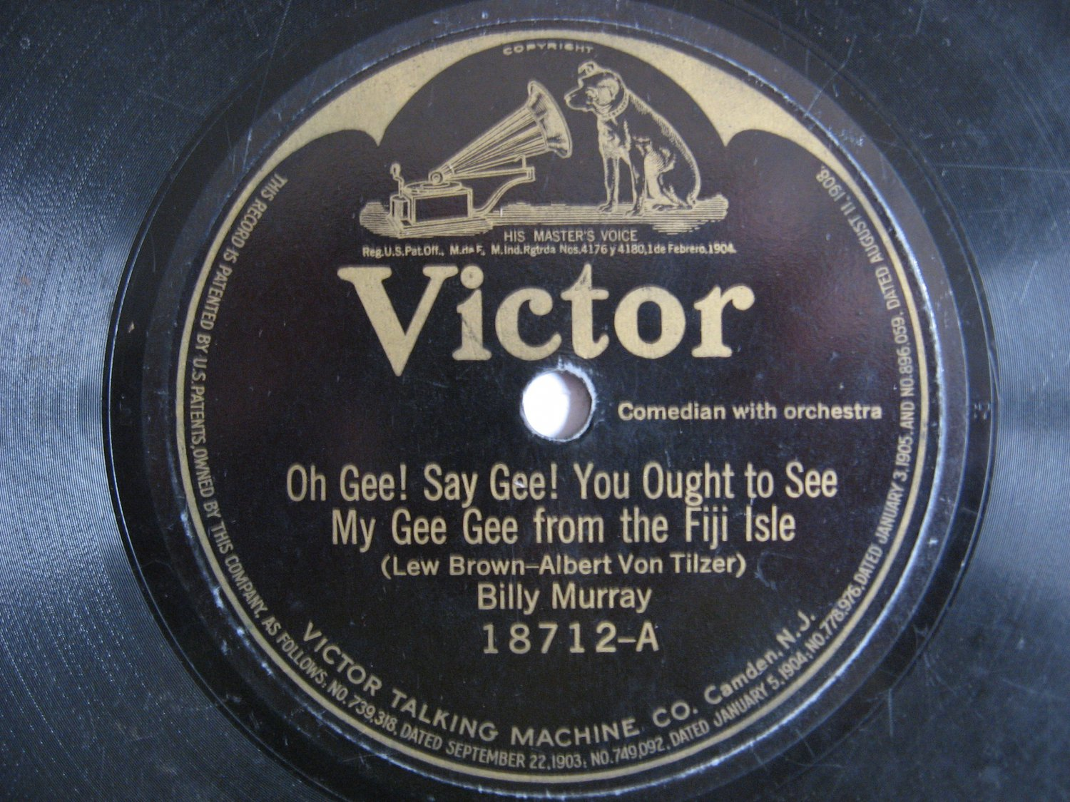 Bill Murray - Oh Gee! Say Gee! You Ought To See My Gee Gee From The Fiji Isle - Circa 1921