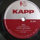 Roger Williams  -  Till  (Vinyl Record)