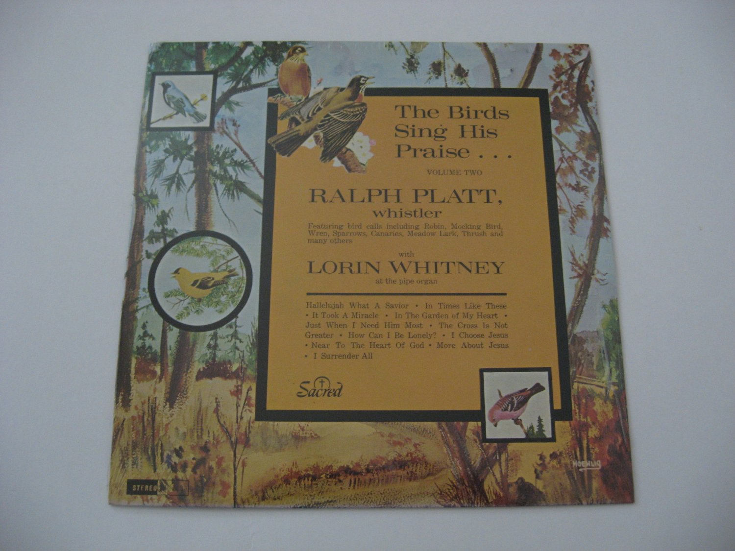 Lorin Whitney - FACTORY SEALED! - The Birds Sing His Praise - Volume 2 - 1965 (Vinyl Record)