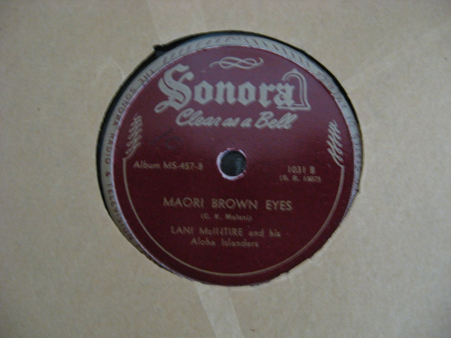 Lani McIntire - Isle Of Golden Dreams/Maori Brown Eyes - 1944  (Vinyl Records)