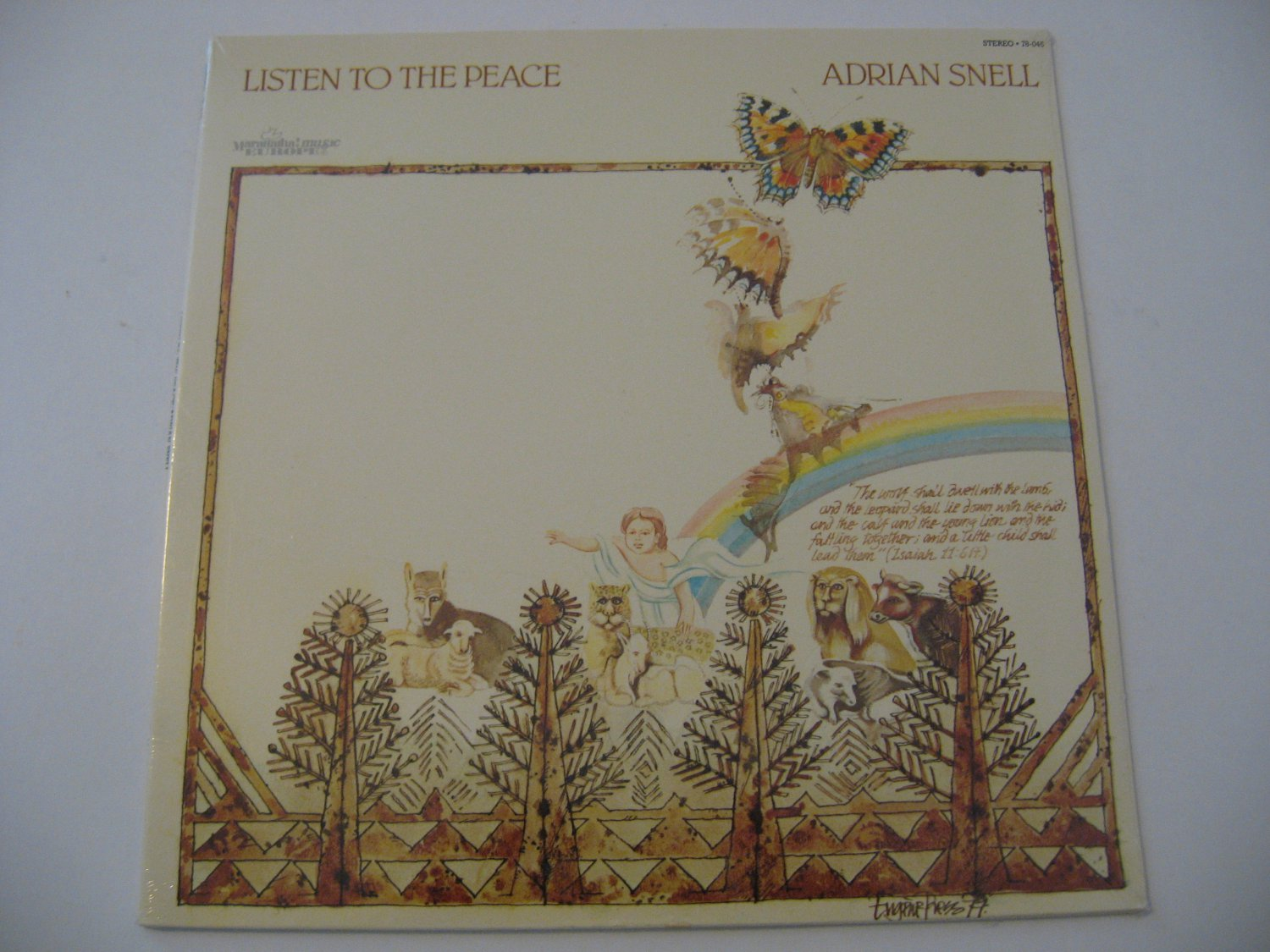 NEW! Factory Sealed - Adrian Snell - Listen To The Peace - Circa 1978