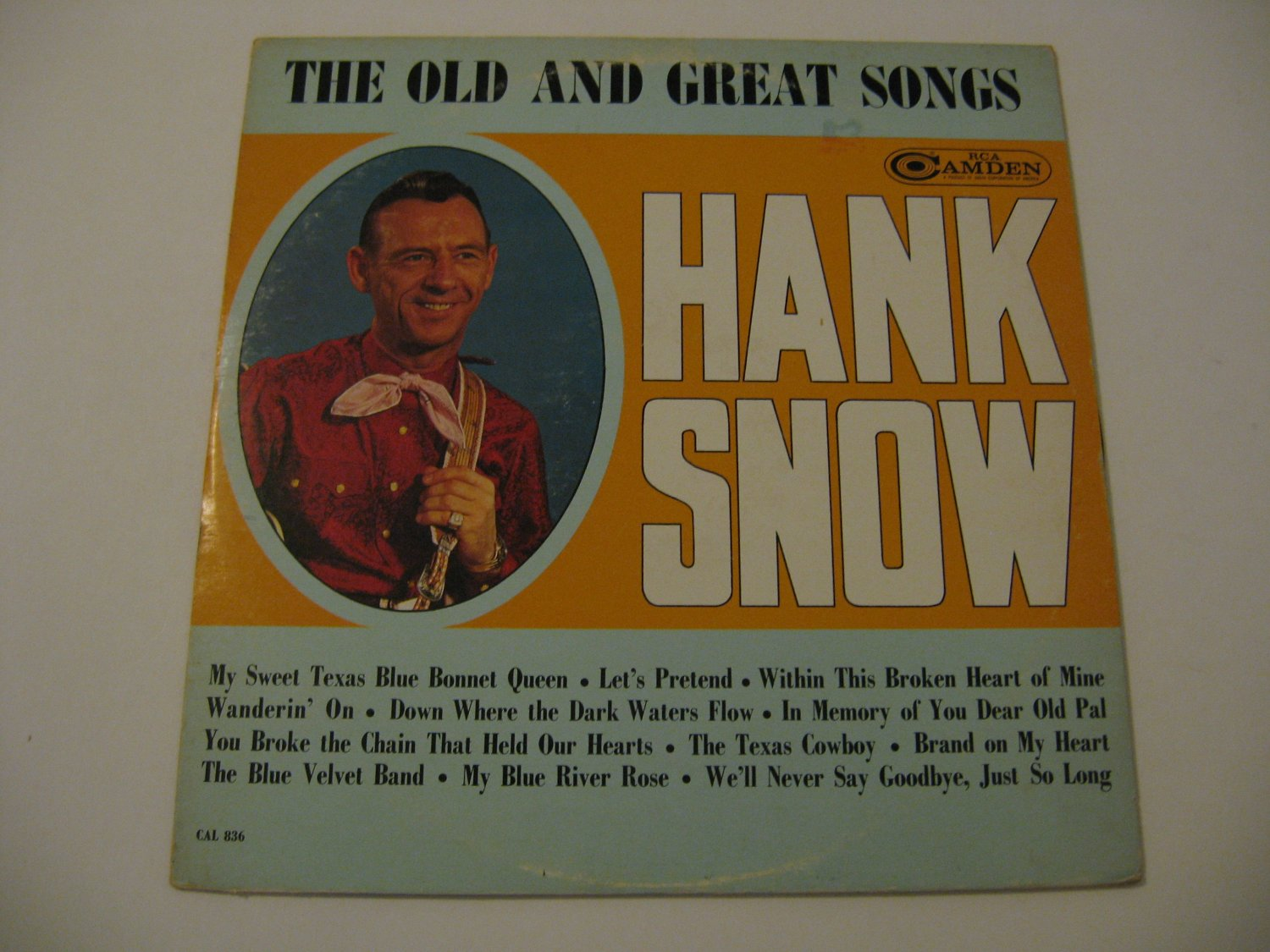 Hank Snow - The Old And Great Songs - Circa 1964
