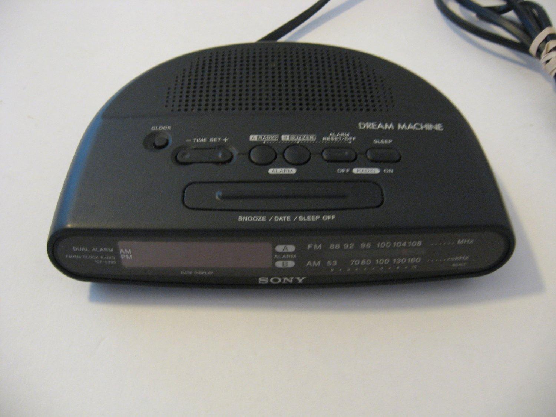 Vintage Sony Dream Machine - Clock radio -  #ICF-C390 - Black