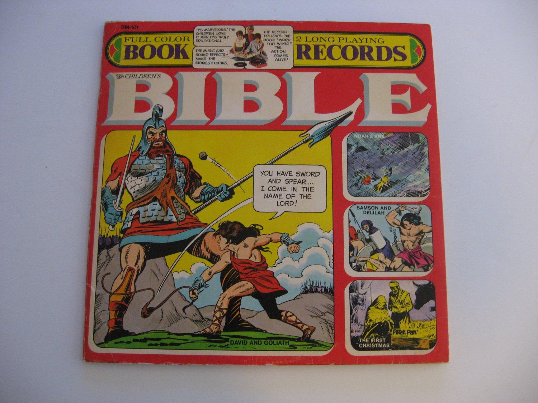 Rare! The Children's Bible - Two Record Set - 32 Page Color Book - Circa 1974