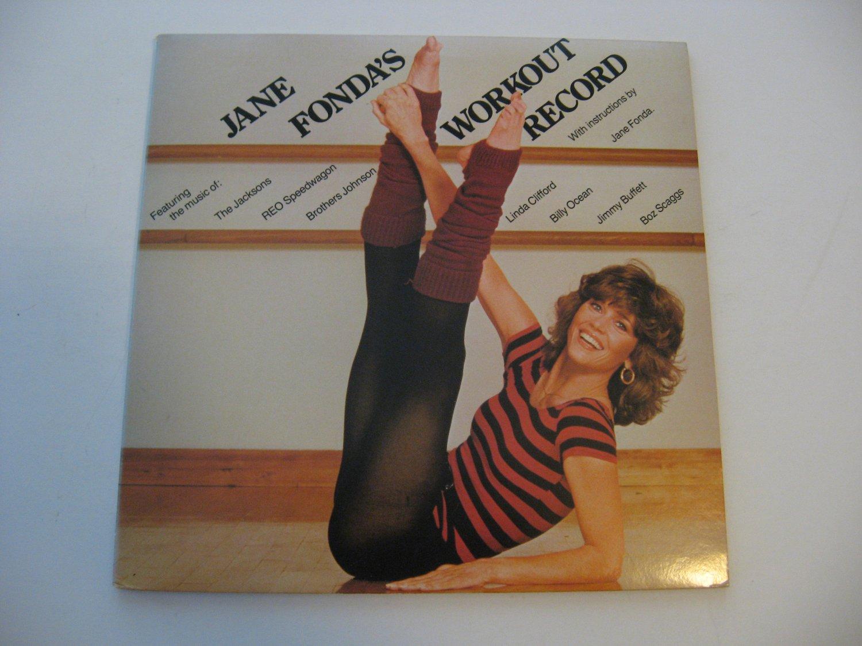 Jane Fonda -The Jacksons - Jimmy Buffett -  Workout Record - Double Album Set! - Circa 1981