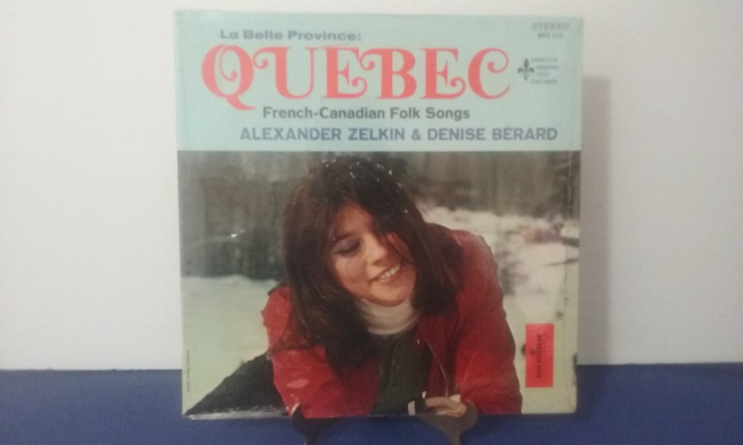 NEW! - Alexander Zelkin & Denise Berard - Quebec French Canadian Folk Songs - Circa 1970