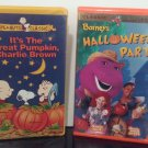 Halloween Classics - 2 VHS Tapes - Charlie Brown - Barney