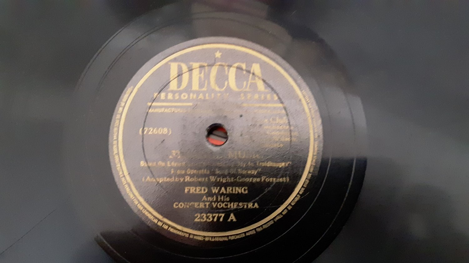 Fred Waring & His Concert Orchestra  - Strange Music /  Waltz in C Sharp Minor -78rpm - Circa 1944