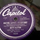 Betty Hutton - Doctor, Lawyer, Indian Chief - His Rocking Horse Ran Away - 78rpm - Circa 1948