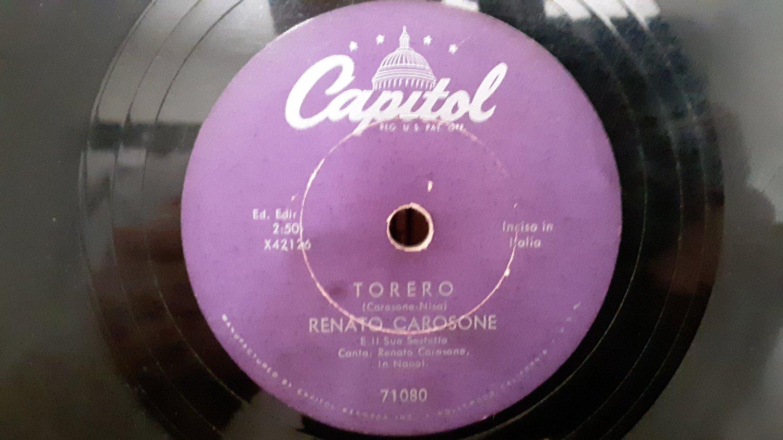 Renato Carosone  - Torero - Chela Lla - 78rpm - Circa 1940's