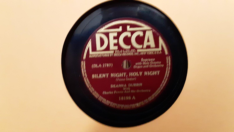 Deanna Durbin - Silent Night, Holy Night - Adeste Fideles - 78rpm - Circa 1941