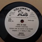 Radio Station Copy! - Frank Sinatra - April In Paris / London By Night - 78rpm - Circa 1951