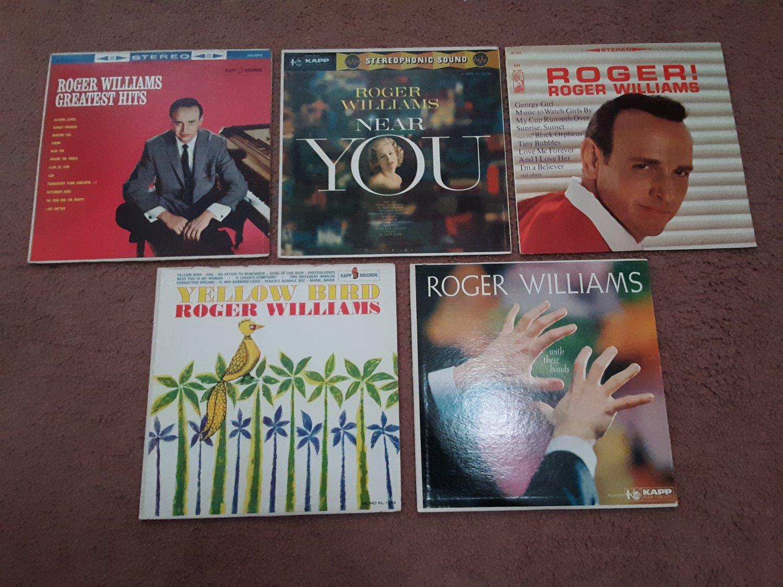 Roger Williams - Super Package Deal - Lot of 5 Roger Williams Vintage Albums