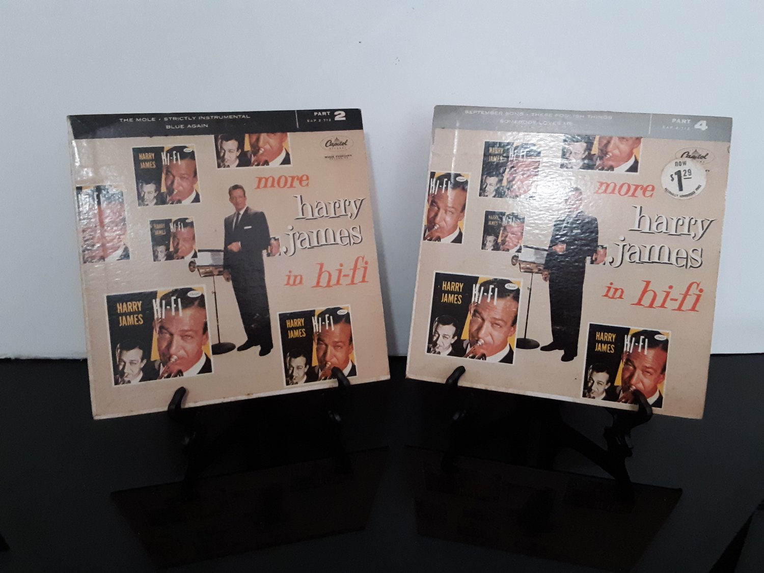 Harry James  - Lot of 2 Records - More Harry James In Hi-Fi - Parts 2&4 - Circa 1956