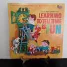 Walt Disney - Learning To Tell Time Is Fun  - Plus Illustrated Book -  Circa 1969