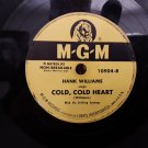 Classic Country! Hank Williams - Cold, Cold Heart - 78rpm - Circa 1951