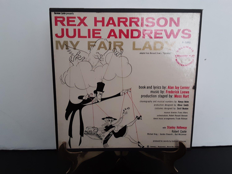 Classic! Julie Andrews / Rex Harrison - My Fair Lady - 4 Record Box Set! - Circa 1956