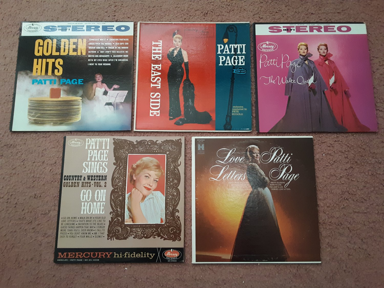 Patti Page - Bundle of 5 Albums! All Her Great Hits In One Bundle! - Circa 1950-60's
