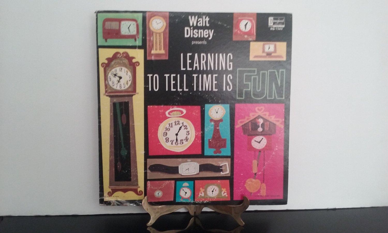Walt Disney - Learning To Tell Time Is Fun - Circa 1964