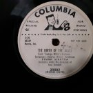 Very Rare Radio Station Shellac! Frank Sinatra - The Birth Of The Blues - 78rpm Shellac