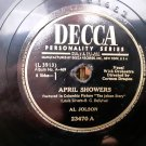 Al Jolson - April Showers / Swanee - 78rpm - Circa 1945