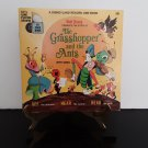 Disney - The Grasshopper And The Ants - 7' Record & 24 Page Story Book - Circa 1968