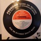 Rare! Fedders - The Sound Of Quality - Promo Flexi-Disc - Circa 1963