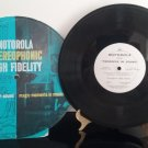 "RARE! - Motorola ""Progress In Sound"" - Various Artists - 10"" Vinyl - Circa 1959"
