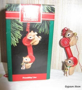 FRIENDSHIP LINE Chipmunks HALLMARK 1992 With Box