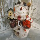 "Adorable VINTAGE Snowman RESIN STATUE 6"" Birdhouse"