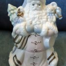 Vintage SOFT BLUE Santa 2 Piece POTTERY Box CONTAINER