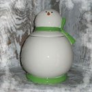 Vintage Snowman Cookie Jar 1980s Such a Sweet Face
