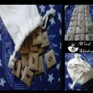 Rune Set made of wood Traditional Elder Futhark