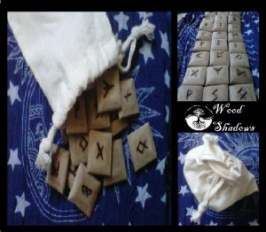 Rune Set made of wood Traditional Elder Futhark