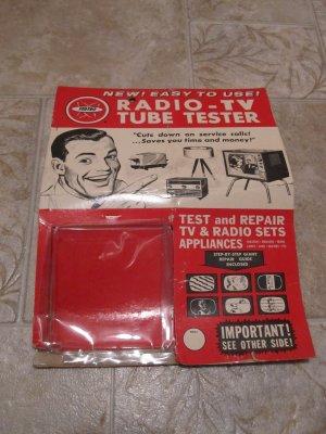 Radio TV Tube Tester advertising package Copyright 1964