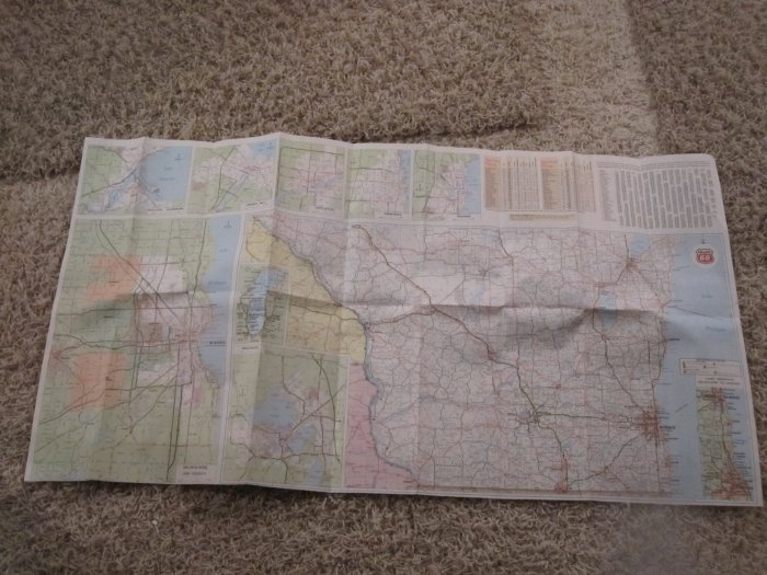 Vintage Late 1970s? Phillips 66 Wisconsin map