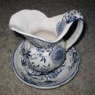 Vintage decorative Made in Japan small pitcher w/ plate
