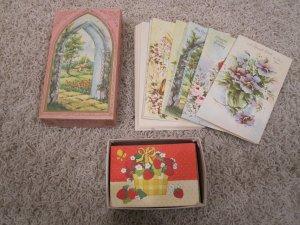 Vintage UNUSED greeting cards assortment in box