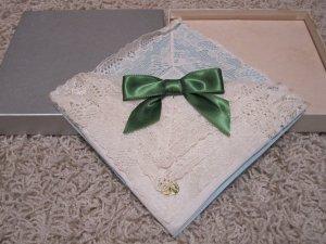 Vintage Linen Center Cotton Lace Handkerchief