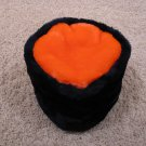 NEW similar to Chicago Bears (not official) dark blue & orange colors winter faux fur hat