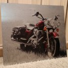 "NEW LIMITED EDITION HARLEY DAVIDSON ROAD KING CLASSIC MOTORCYCLE WALL ART ON METAL, 20"" x 24"""