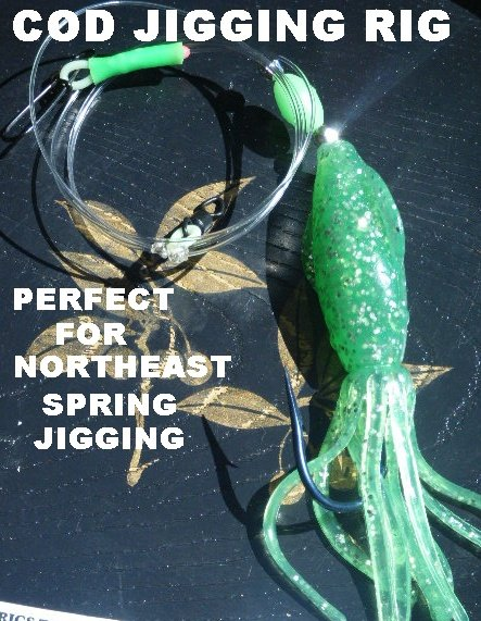 Nor'East Cod squid Teaser Jigging Rig