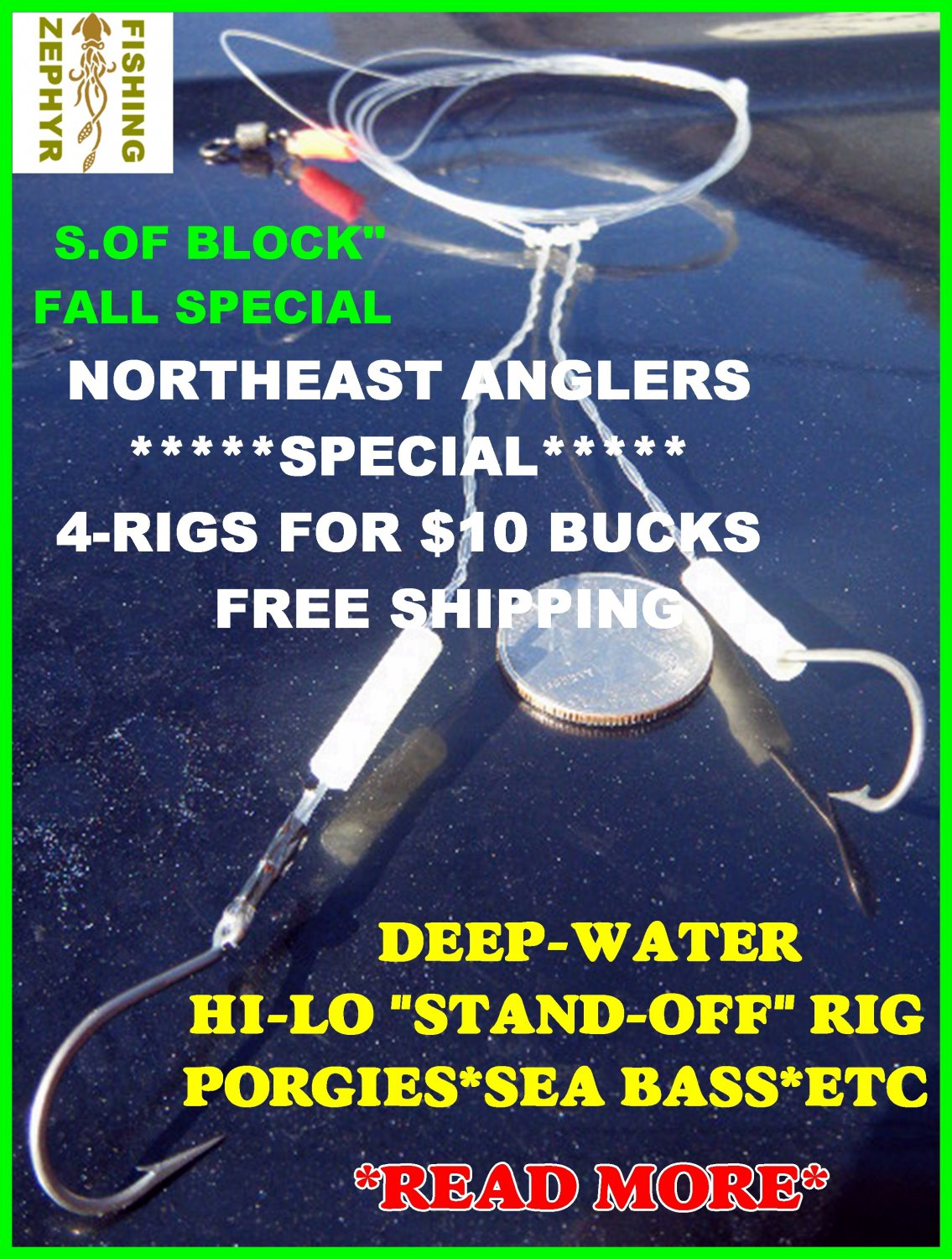 """PORGY SEA BASS """"STAND-OFF""""RIG'S***PROMO SALE*LIMITED TIME**"""