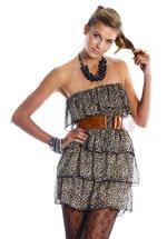 Tube-Top Leopard Print Dress (S,M,L)