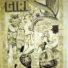 BOB POWELL ORIGINAL ART CAVE GIRL COMPLETE STORY # 14, 4.5 VG +